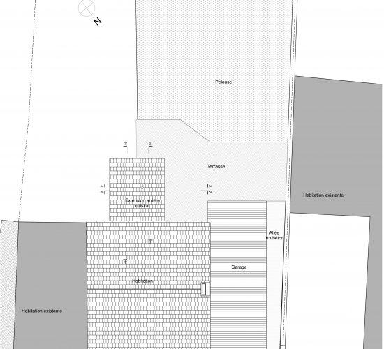 Régularisation d'une annexe, Leval-Trahegnies, Binche