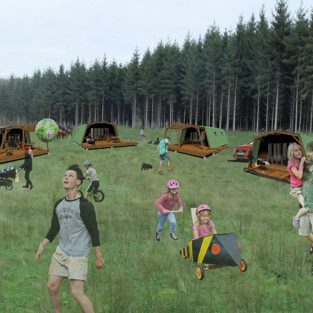 Création d'un habitat léger et modulaire en bois, en forêt d'Ardenne