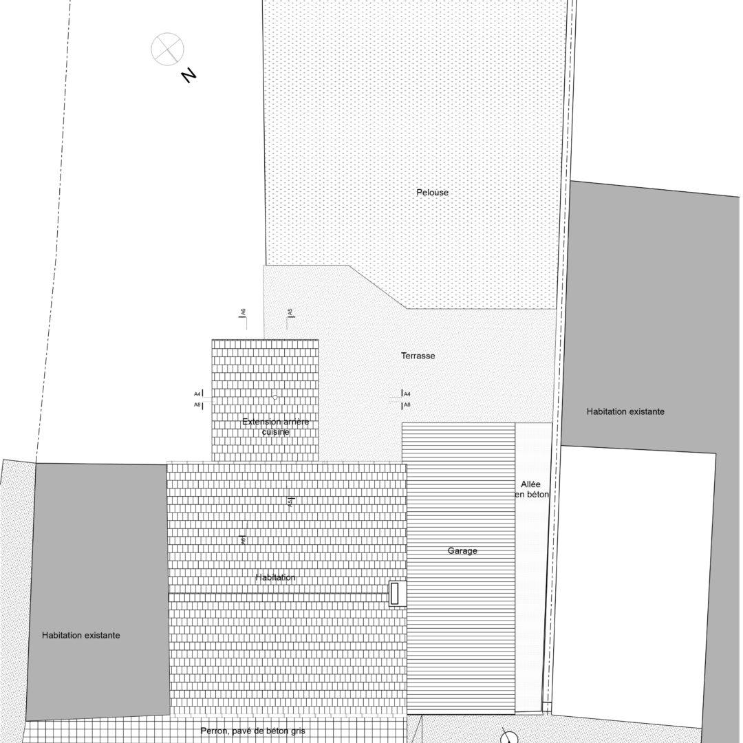 Régularisation d'une annexe à l'arrière d'une habitation, Leval-Trahegnies, Binche