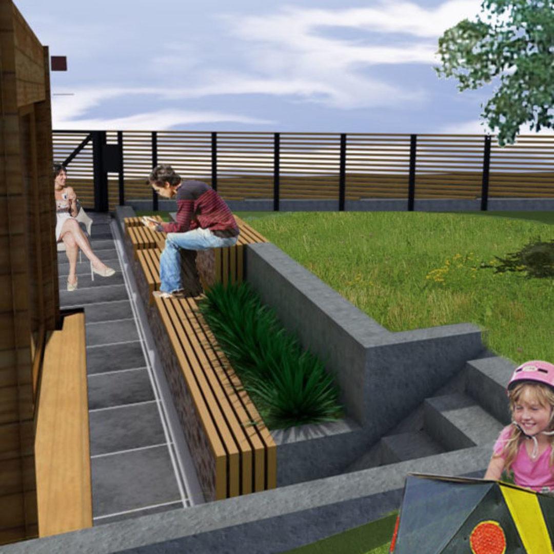 Aménagement d'une terrasse extérieur et de ses abords – Theux-