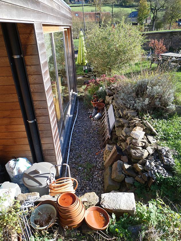 Aménagement d'une terrasse et de ses abords en gradin