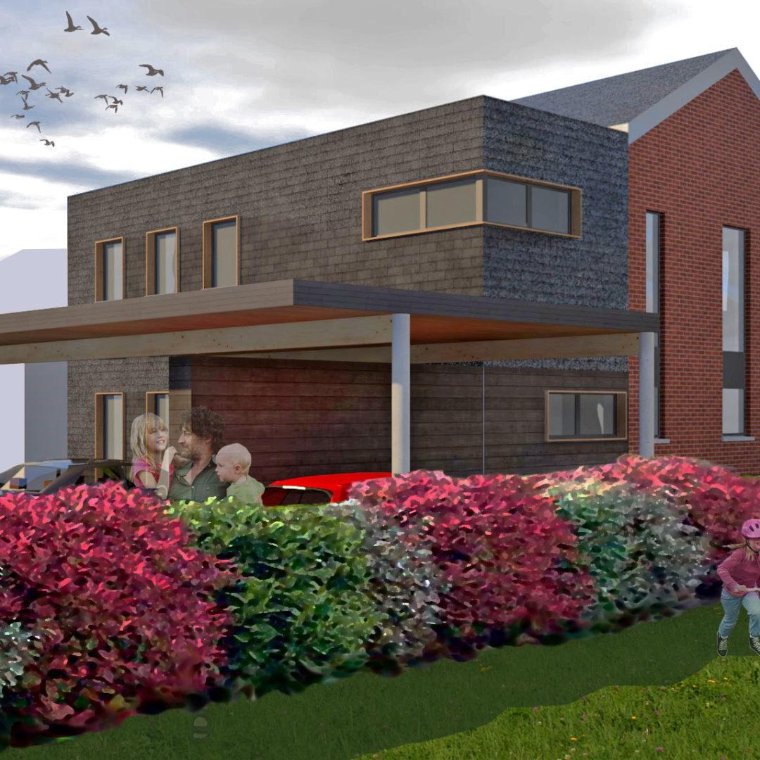 Extension à l'avant d'une habitation – Amay –